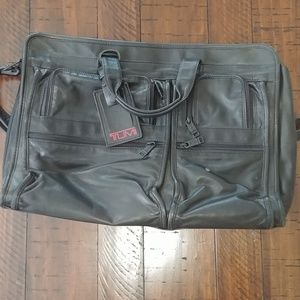 Tumi leather messenger/laptop bag